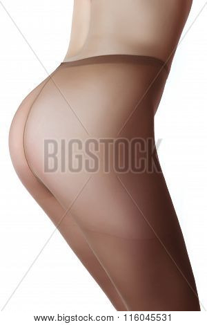 Beautiful Buttocks Of A Woman Wearing Tights