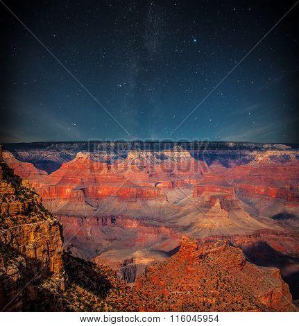 Grand Canyon At Night