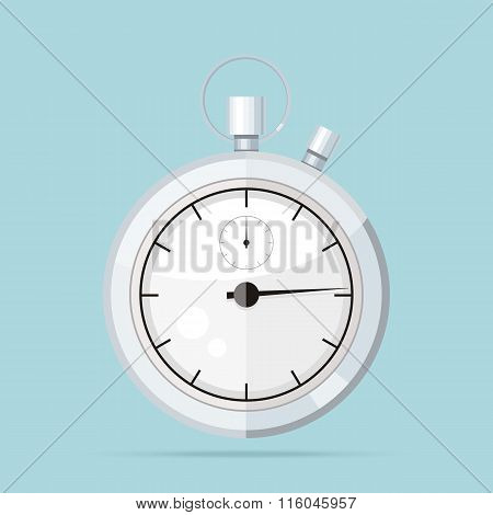Clock Logo Icon Isolated. Watch Object