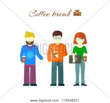 Business Team on Coffee Break
