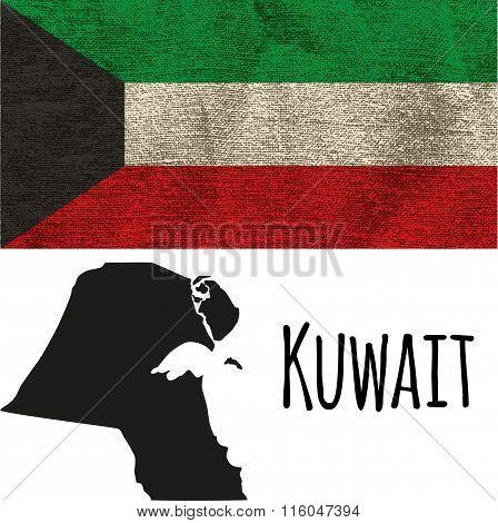 Kuwait Vector Flag