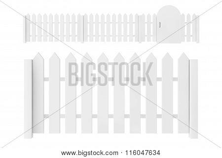 White Blank Fence