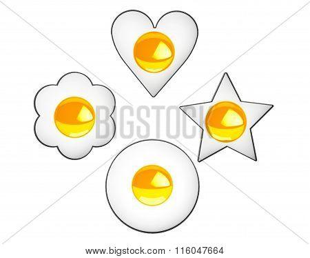 Multiform Fried Eggs