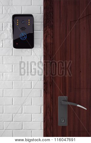 Modern Video Intercom Near Door