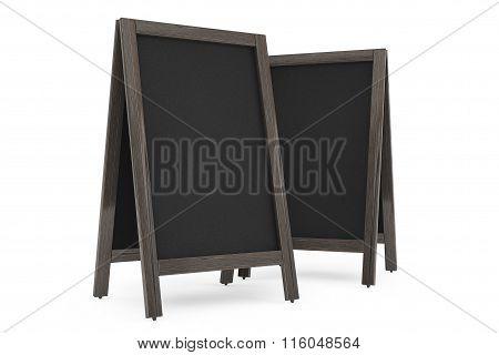 Blank Wooden Menu Blackboards Outdoor Display