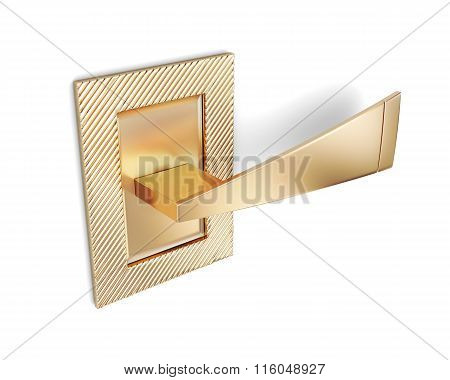 Futuristic door handle isolated on white background. 3d renderin