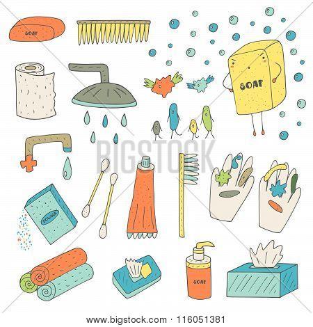 Hygiene objects set