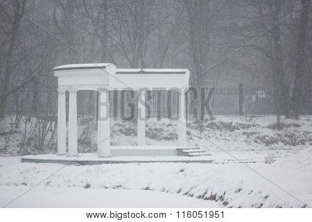 Colonade In Winter
