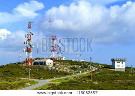 Foia telecommunication station on top of the highest mountain in Algarve