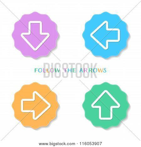 Colorful Vintage Arrow Buttons