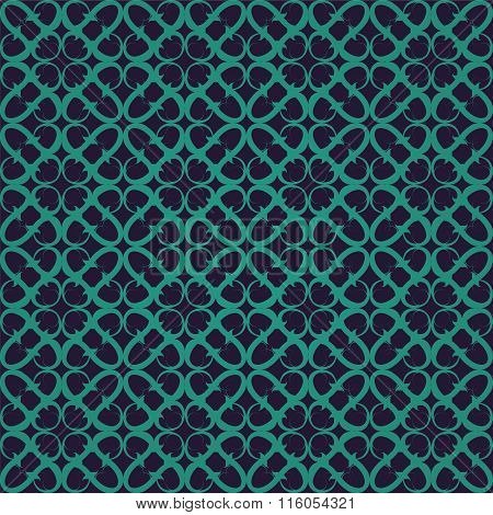 Retro green violet ornate seamless background