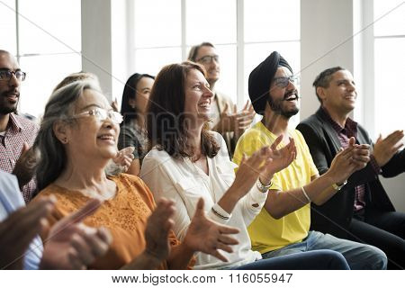 Audience Applaud Clapping Happines Appreciation Training Concept