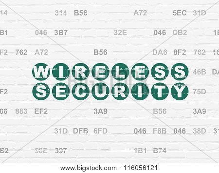 Security concept: Wireless Security on wall background