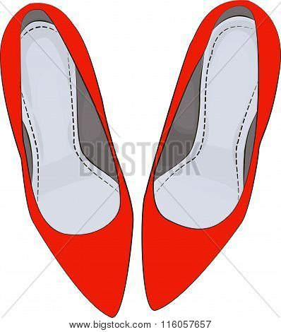 RED shoes heels illustration