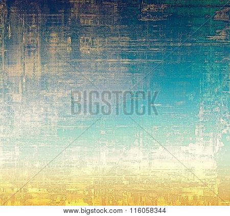 Abstract old background or faded grunge texture. With different color patterns: yellow (beige); blue; cyan; white