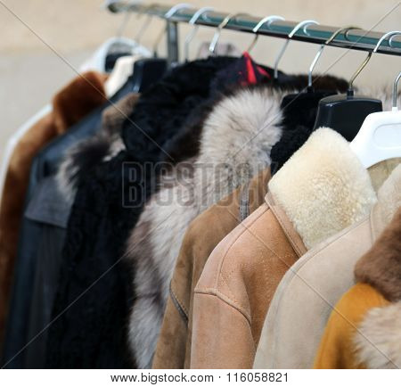 Valuable Fur Coat In Vintage Style For Sale