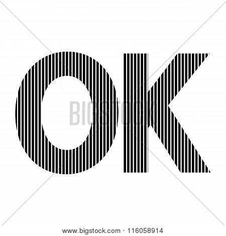 Ok Sign On White.