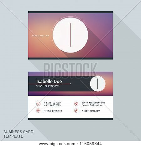 Creative And Clean Business Card Or Name Badge Template. Logotype Letter I. Flat Design Vector Illus