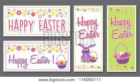 Happy Easter Vector Banner