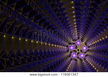 abstract fractal background, rays
