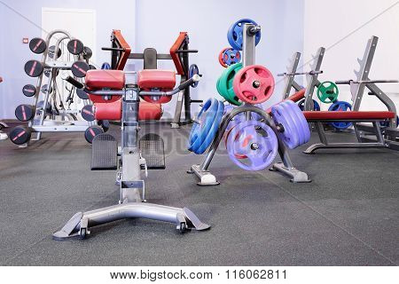 the image of a wights in a fitness hall