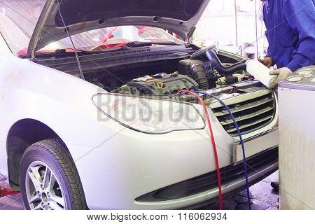 the image of a car repair garage