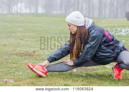 Fitness Sporty Woman Outdoor
