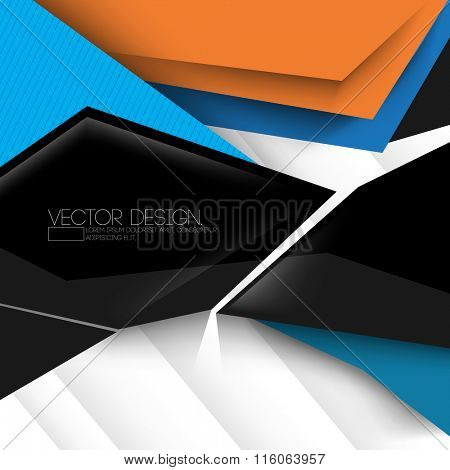 geometric modern layout material vector design