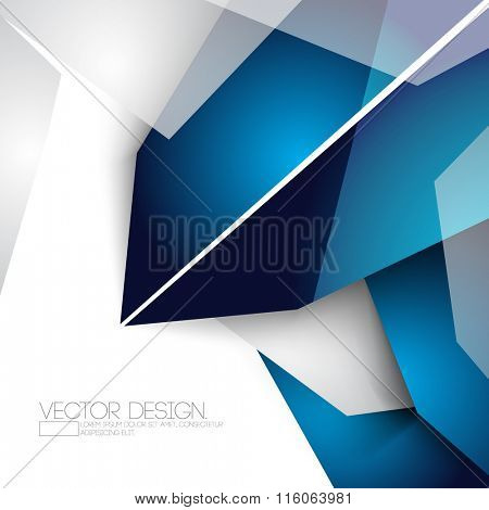 overlapping geometric polygons corporate business design