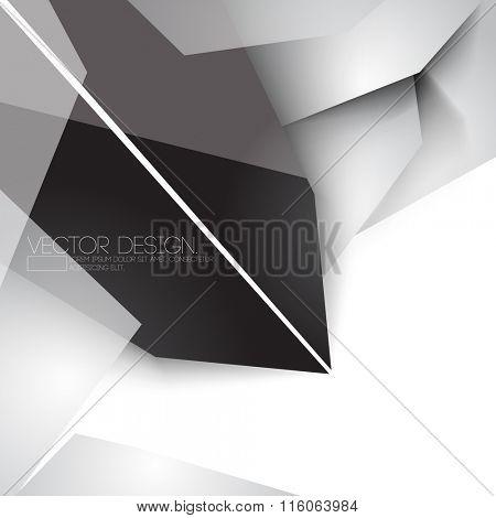 overlapping geometric polygons chrome metallic concept corporate business design