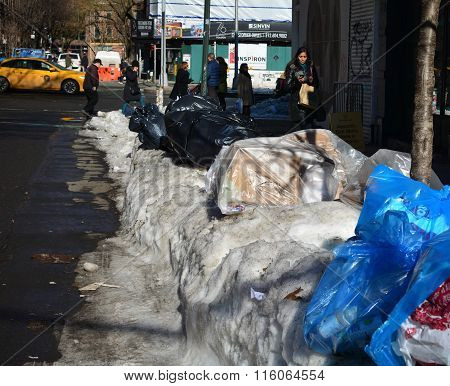 Trash or garbage crisis NYC