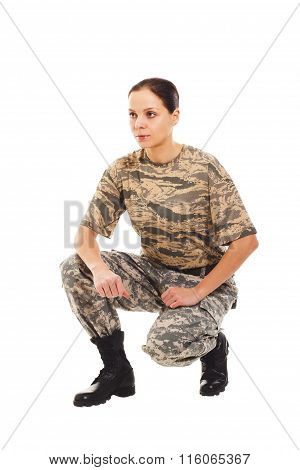Soldier: Girl In The Military Uniform
