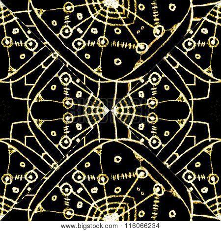 Black And White Geometric Tribal Pattern