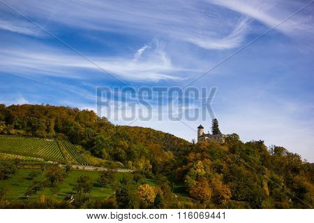 The village Arlesheim (Switzerland) in autumn