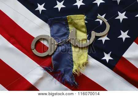 Partnership. USA and Ukraine Flag