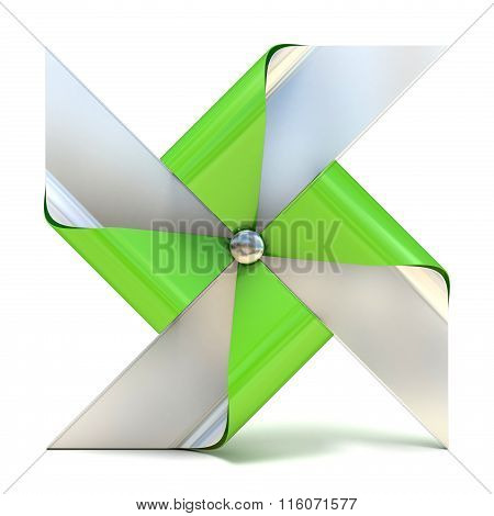 Pinwheel toy four sided. 3D