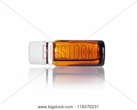 Vial Flask Isolated On White Background