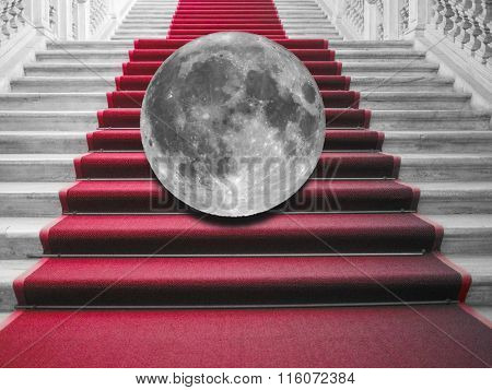 Moon On Red Carpet