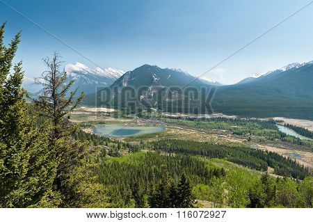 Hiking Trail Of Cory Pass And Bow Valley