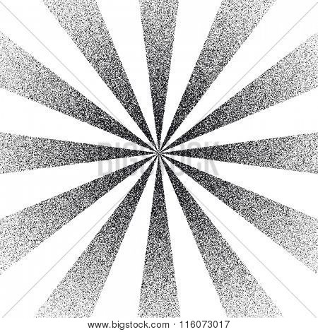 Black and white Sunburst Pattern. Vector illustration.