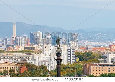 Barcelona. Monument to Christopher Columbus.