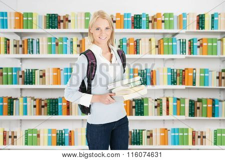 Portrait Of Beautiful Student Girl