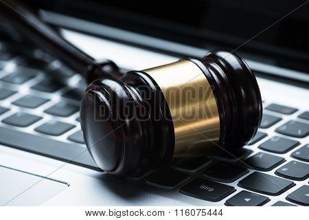 Mallet On Laptop