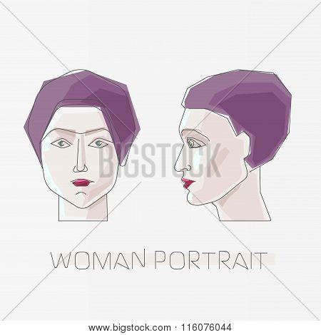 Woman flat portrait