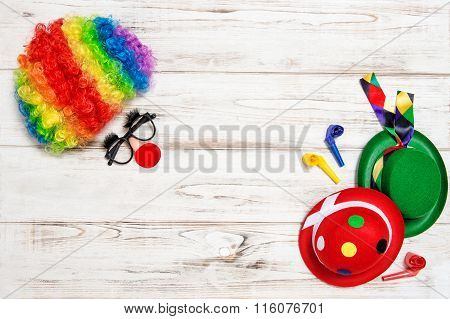 Carnival Mask Clown. Holidays Banner