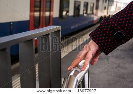 Braille Writing On Train Platform