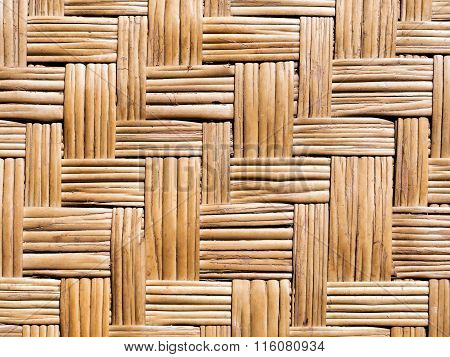 wickerwork from stalks of rattan