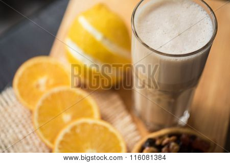 coffee raf with citrus closeup