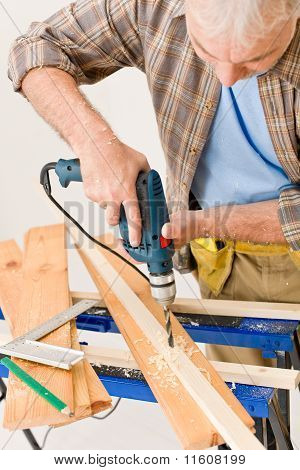 Home Improvement - Handyman Drilling Wood