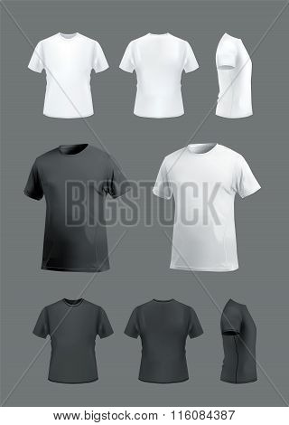 T-shirt mockup set on dark background